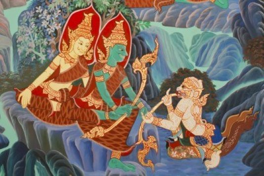 12468755-ramayana-paintings-on-the-wall-wat-nangphaya-phit-sa-nu-lok-thailand